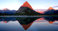 Many Glacier Sunrise Panoramic